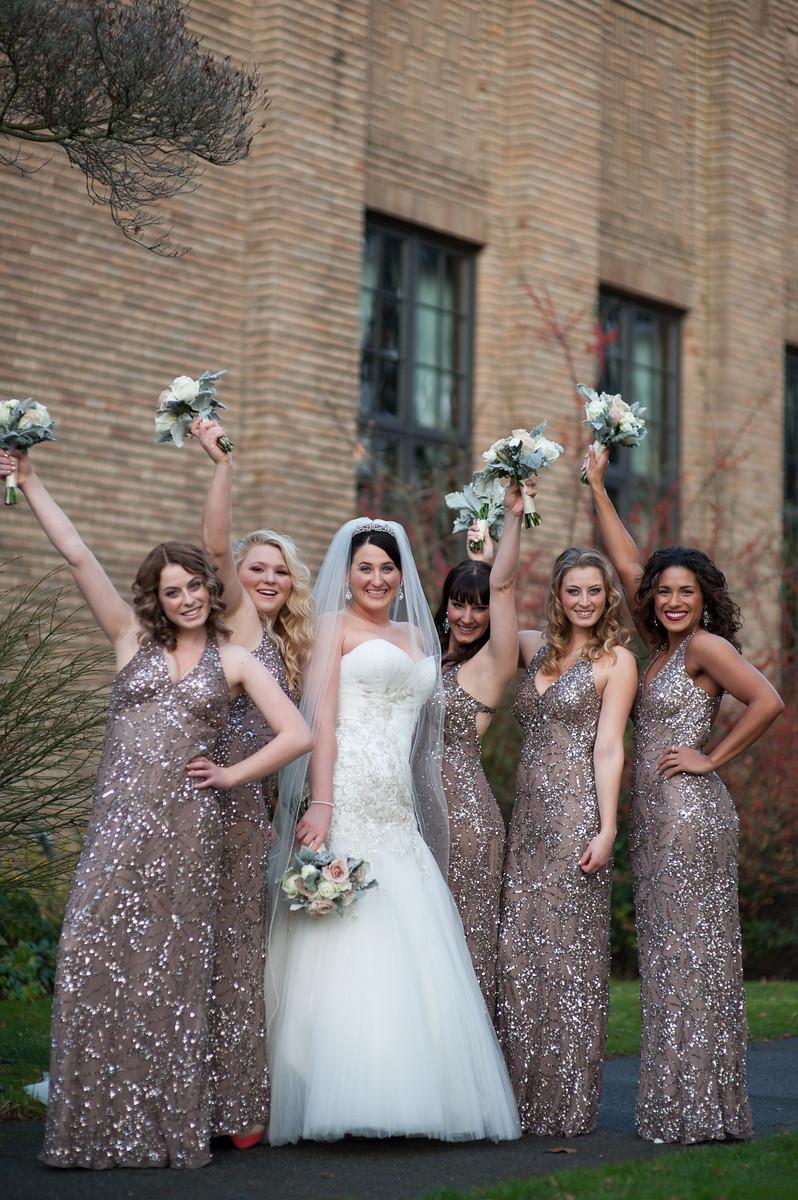 gold sparkle bridesmaid dresses