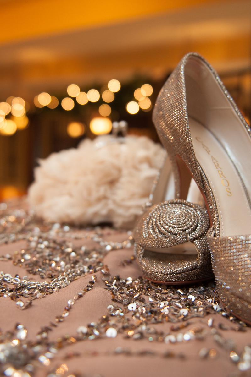 winter wedding sparkle shoes
