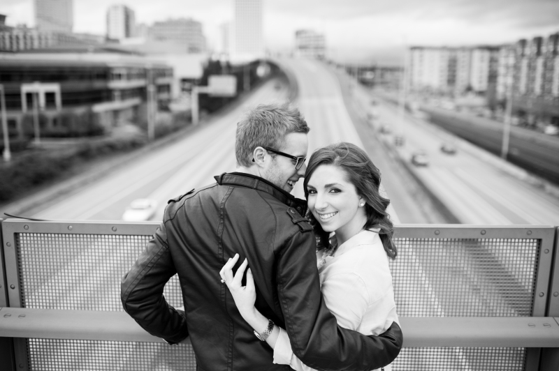 downtown tacoma engagement