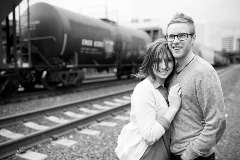 tacoma train tracks engagement