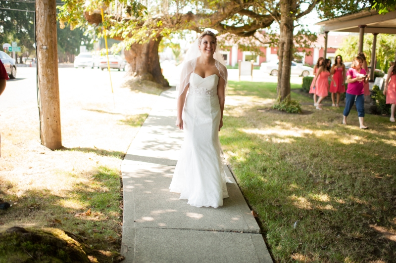 seattle bride first look