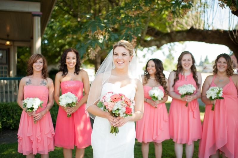 seattle pink bridesmaids