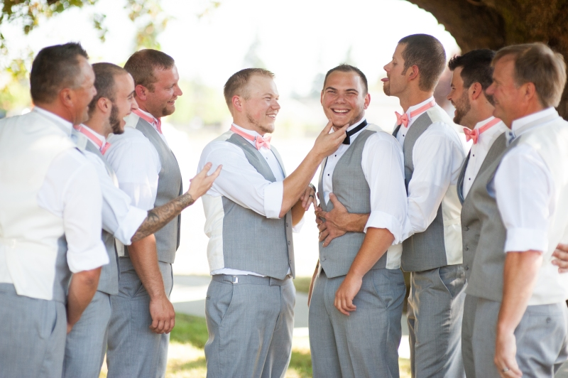 groomsmen grey suits