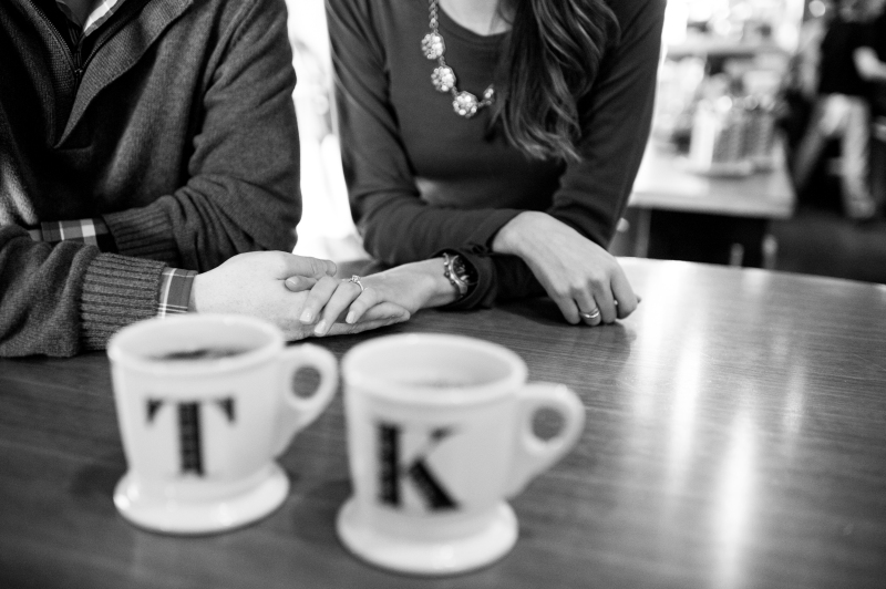 seattle coffee shop engagement