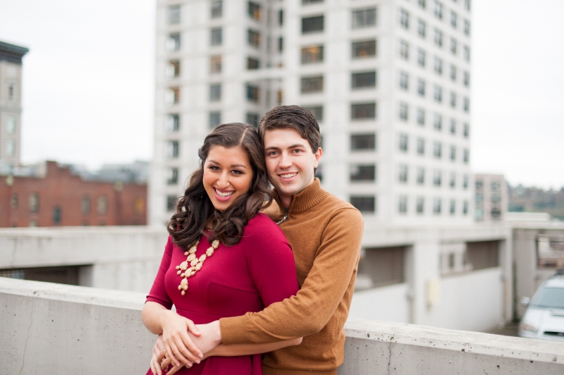 downtown seattle winter engagement