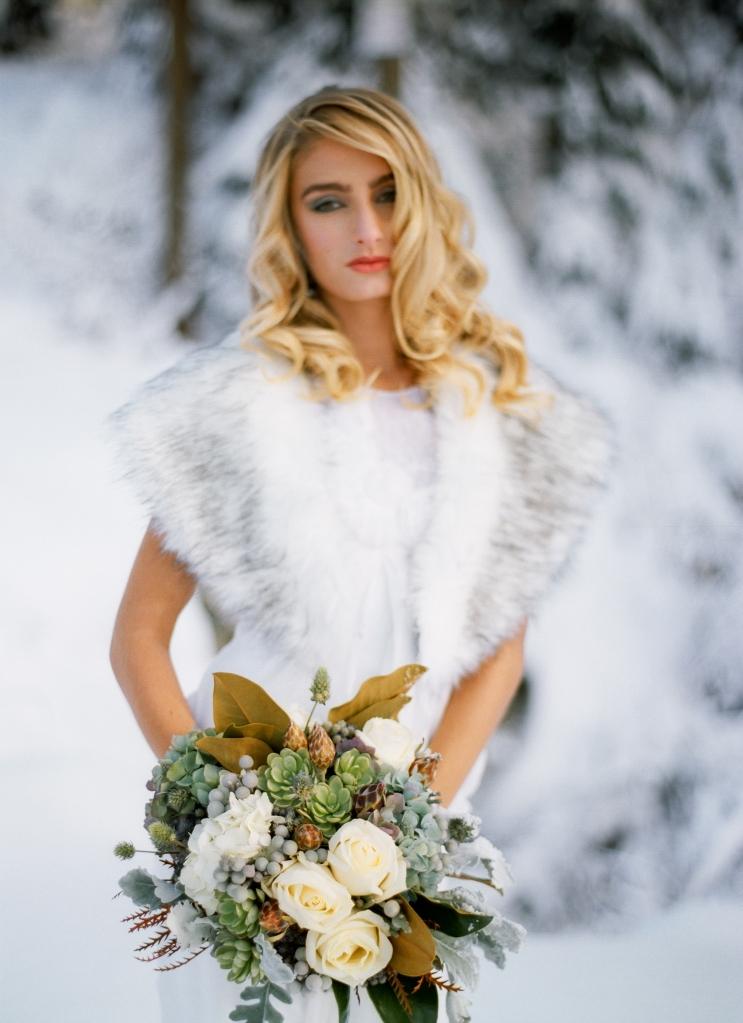 winter wedding film photography