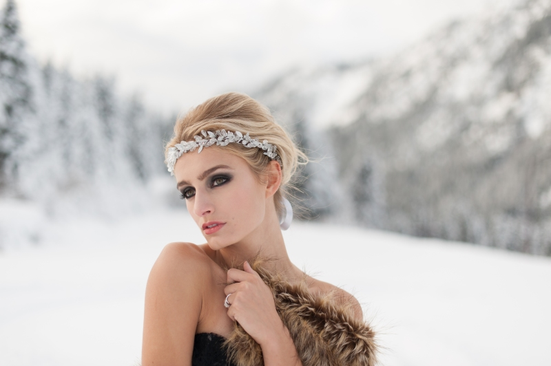winter wedding makeup and hair
