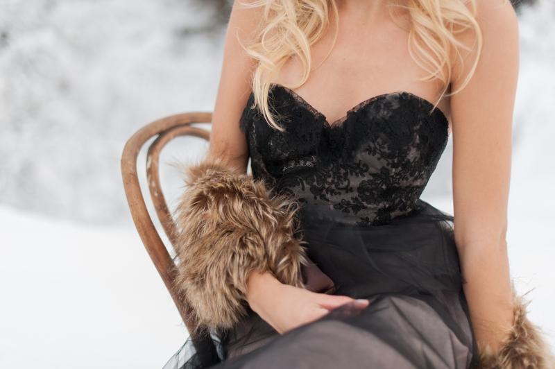 black claire la faye wedding gown