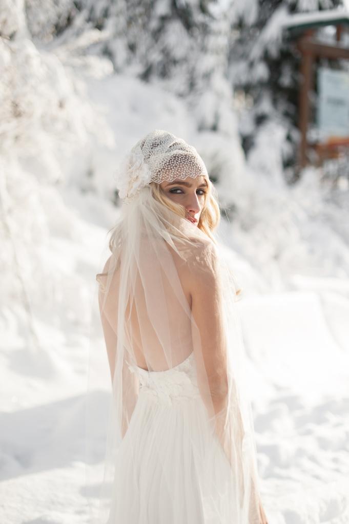 winter snow bride