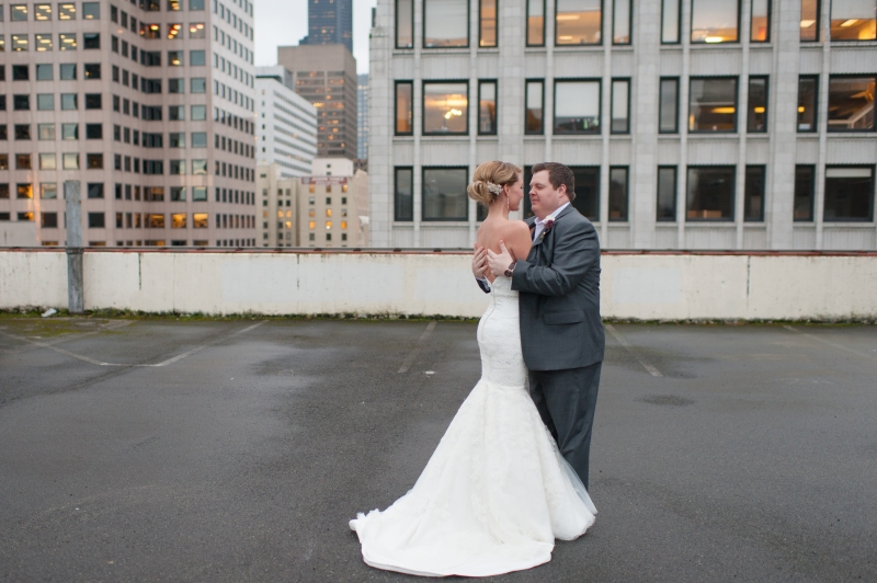 seattle rooftop wedding photography