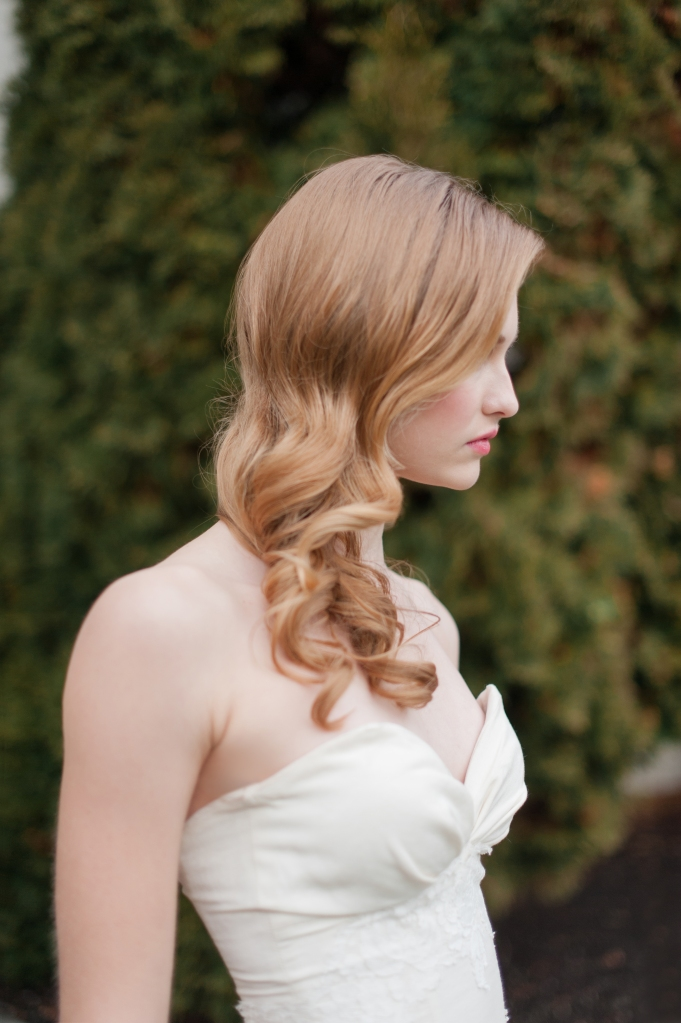 romantic bridal hair style down long