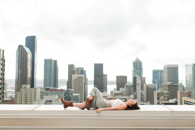seattle rooftop portraits city