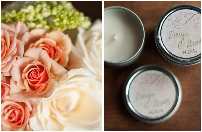 personalized candle wedding favors