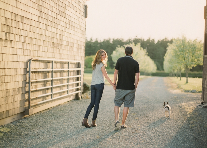 whidbey island engagement pictures film french bulldog