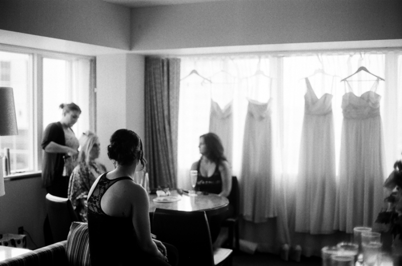 chambers bay tacoma wedding photography film bw