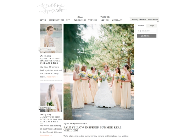 seattle film wedding photographer featured on wedding sparrow