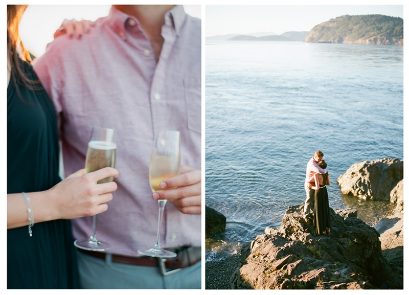 deception pass engagement photography film
