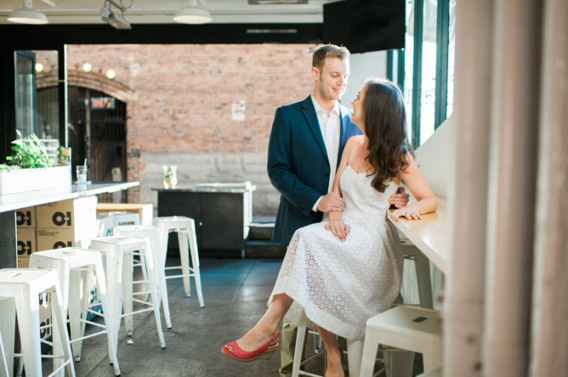 Pike Place market engagement photography