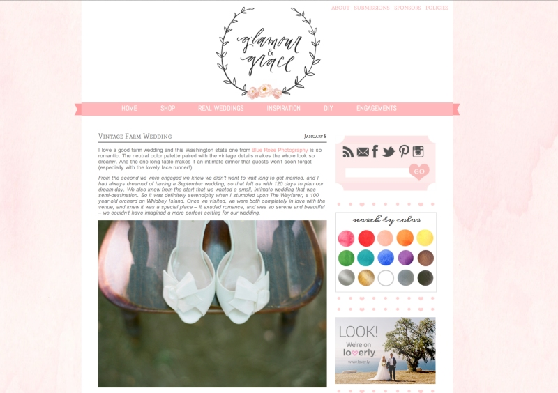 whidbey island wayfarer farm wedding featured on glamour and grace