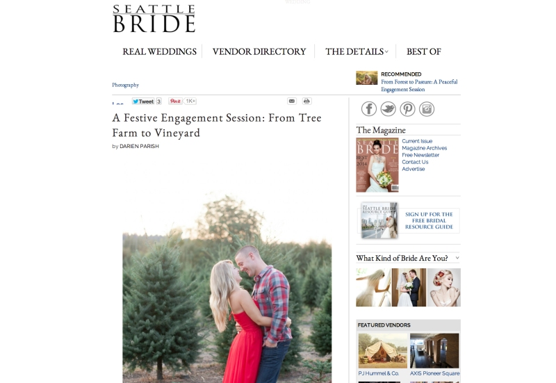 seattle bride magazine winery engagement session woodinville