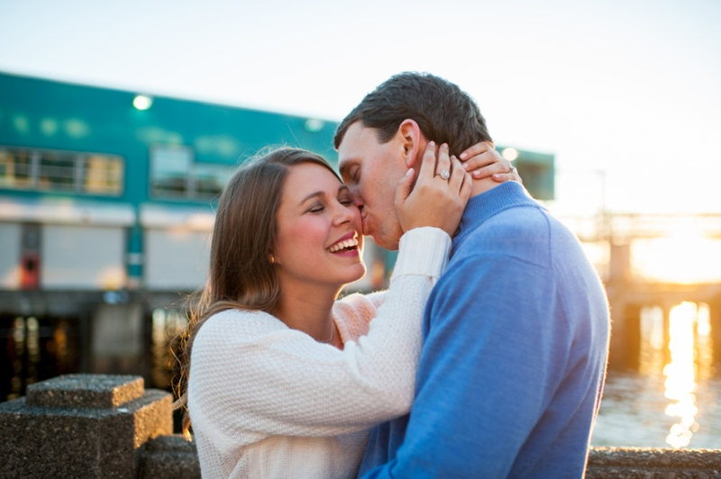 Seattle waterfront engagement session