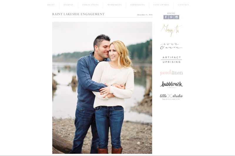 Rattlesnake Lake Engagement published Belle Lumiere Magazine