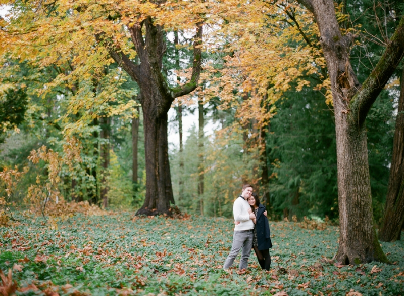 Seattle Film Engagement Photos Fall