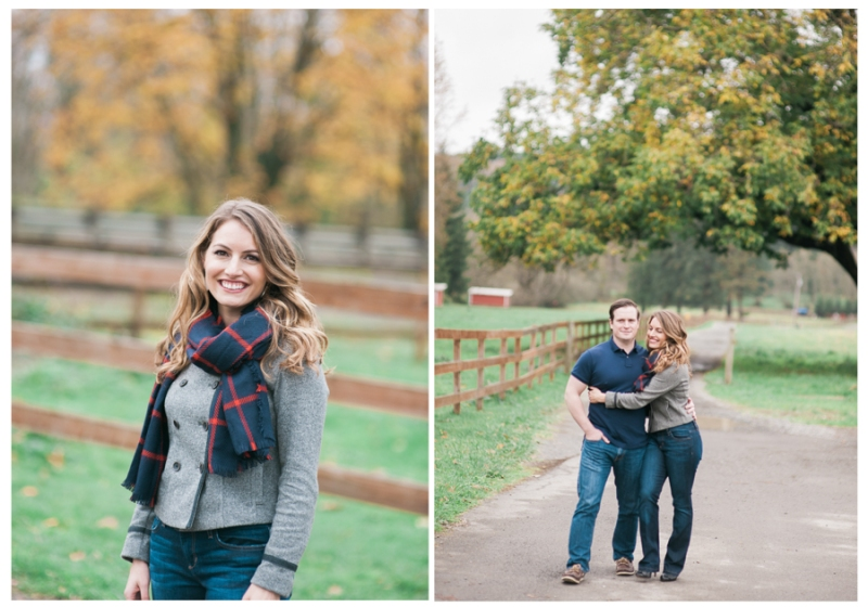 snoqualmie wa foliage engagement photos