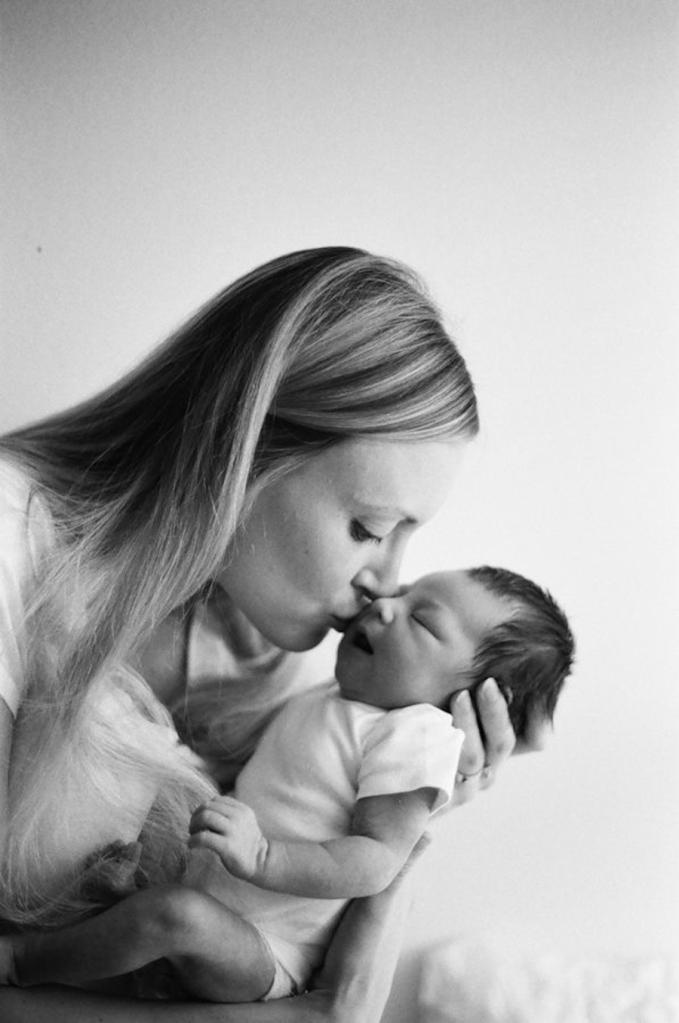 fine art bw newborn photography