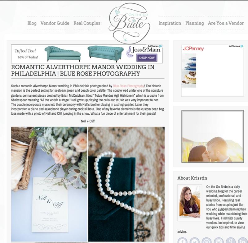 published wedding on the go bride