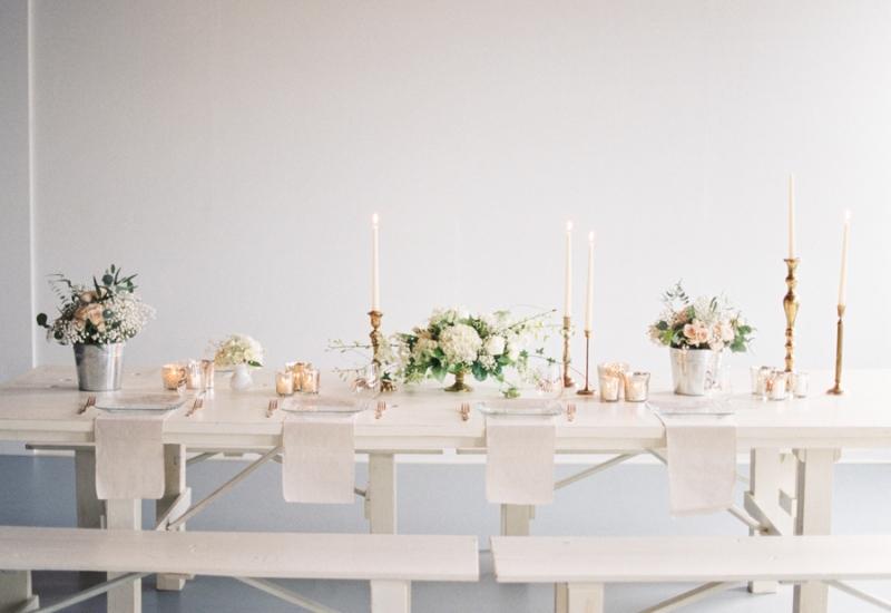 Seattle romantic all white loft wedding