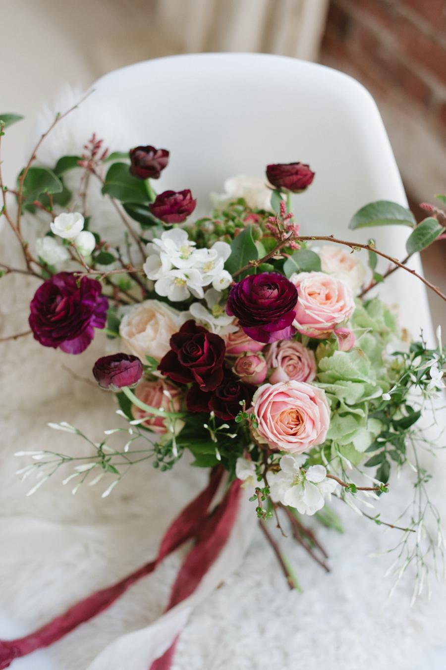 Modern Marsala Wedding Shoot Seattle Wa Blue Rose