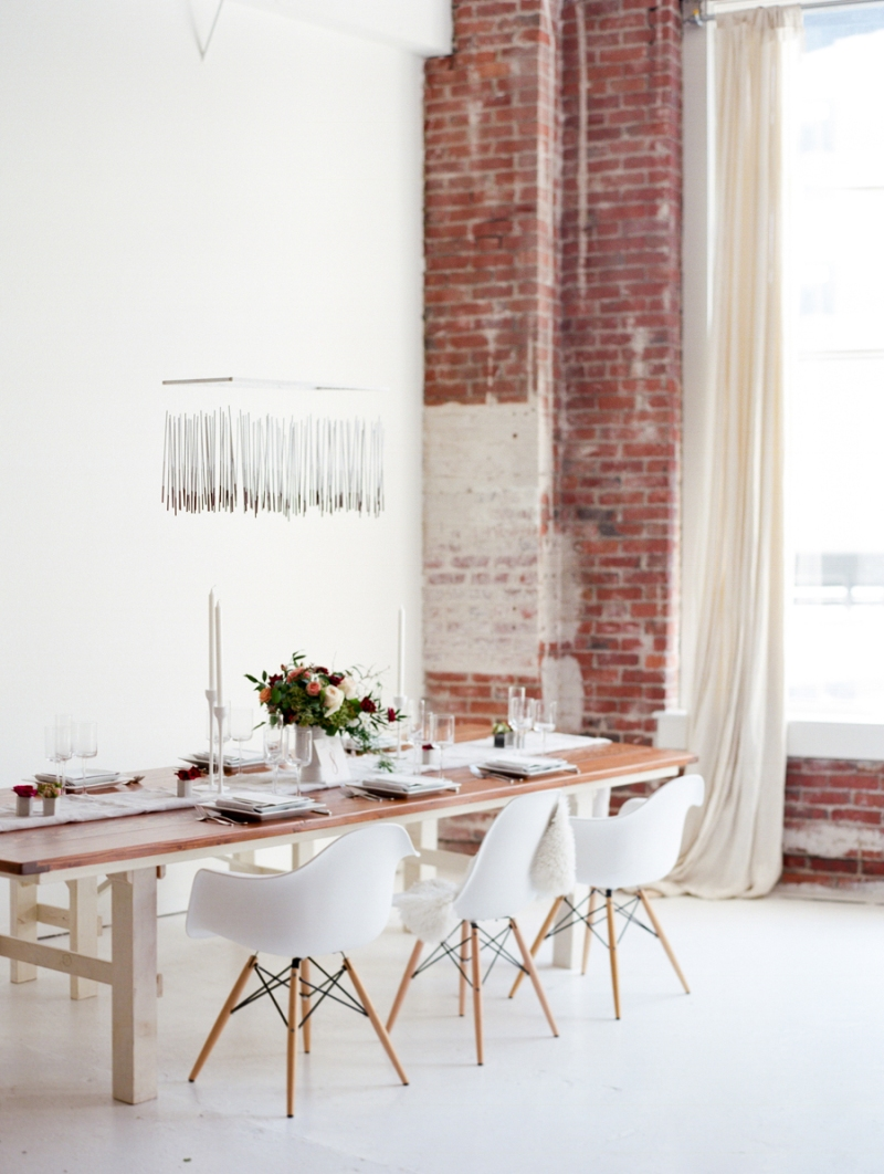 seattle modern loft wedding styled shoot