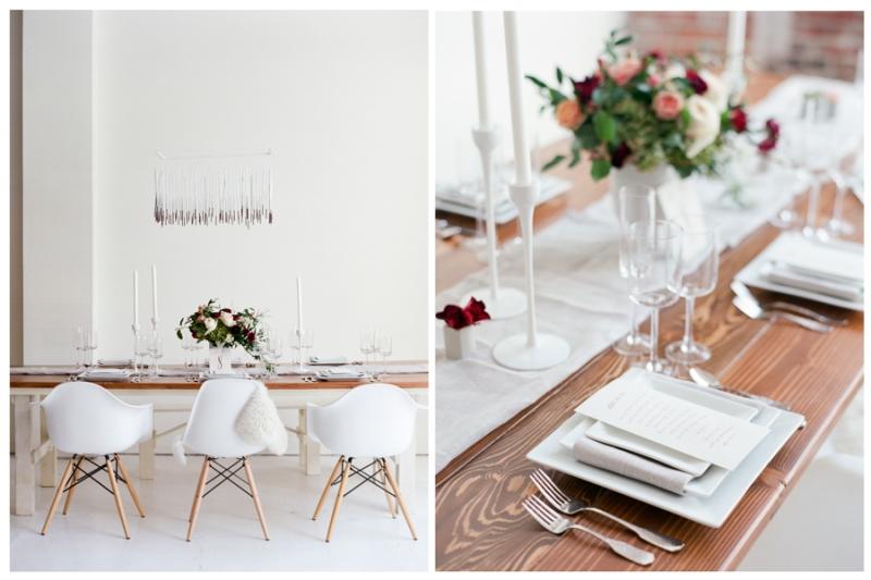 seattle modern loft wedding styled shoot