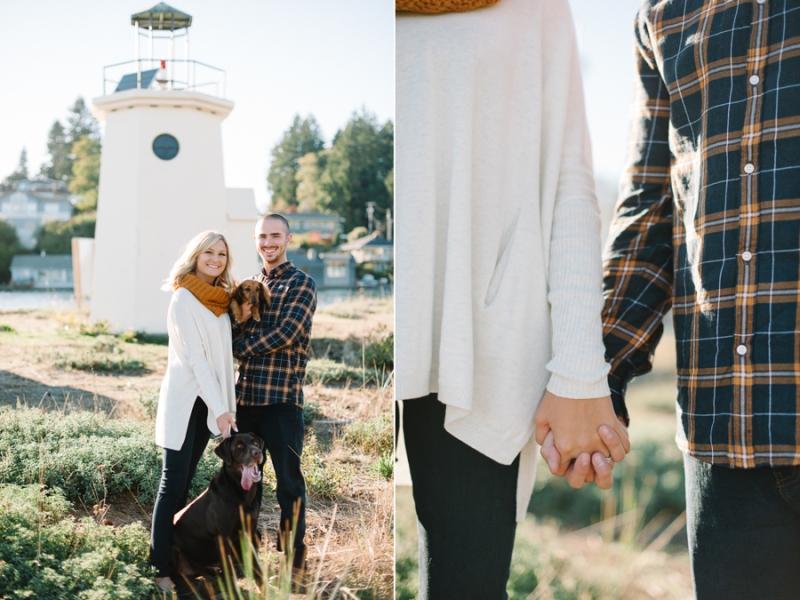 Gig Harbor Lighthouse Engagement Photos