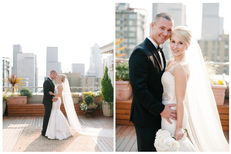 seattle sorrento hotel rooftop wedding