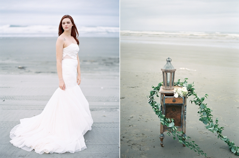 Ocean Shores Beach Wedding Film fine art wedding photography