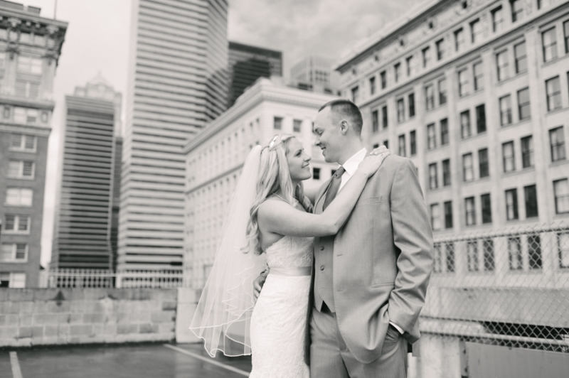 downtown seattle rooftop wedding photos