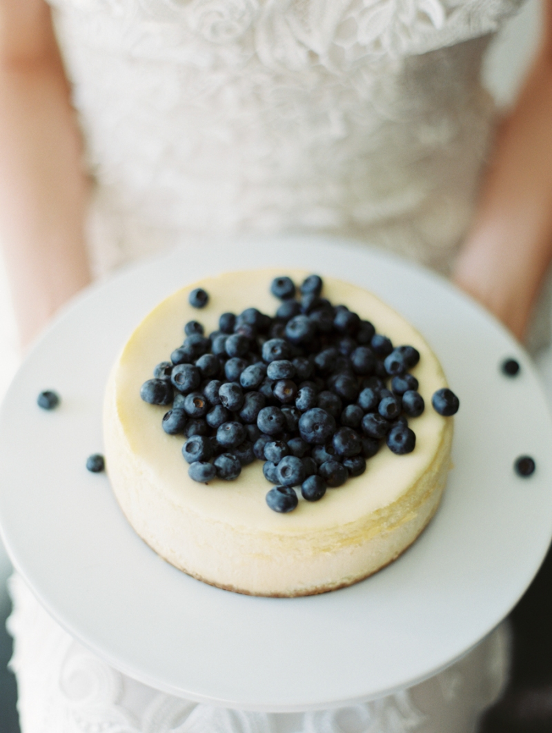cheesecake with blueberries wedding cake seattle