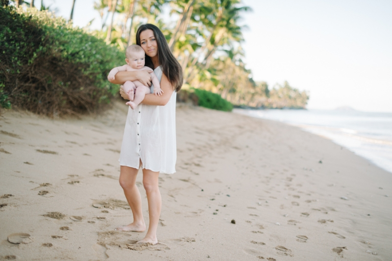 maui family photography 6 months beach baby