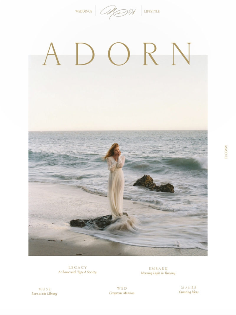 Adorn Magazine Blue Rose Photography