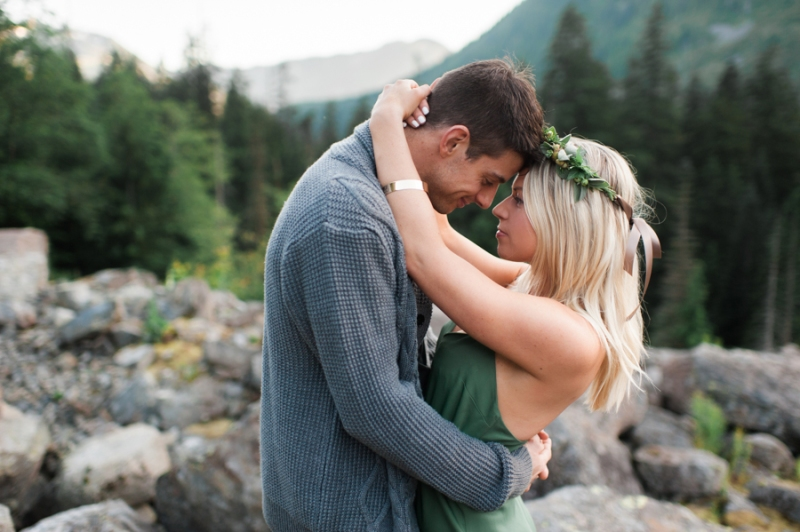 snoqualmie mountain engagement photos