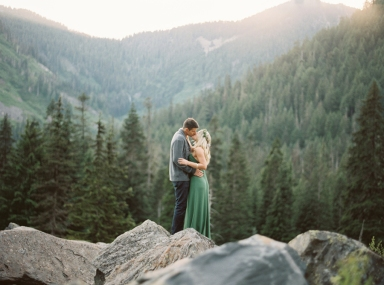 seattle fine art film engagement photographer mountains snoqualmie