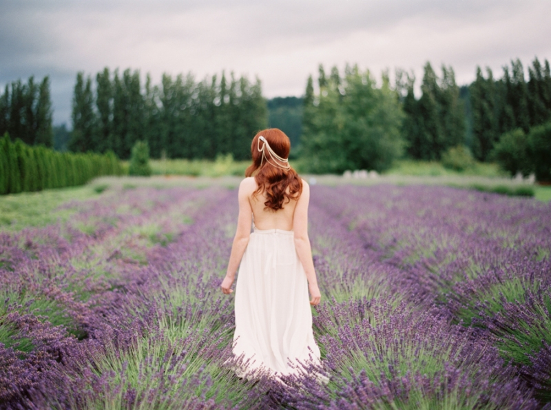 woodinville lavender farm wedding film contax 645
