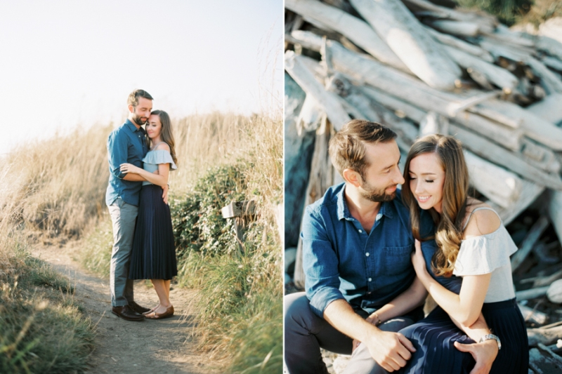 ebey's landing whidbey island engagement photos film portra 160