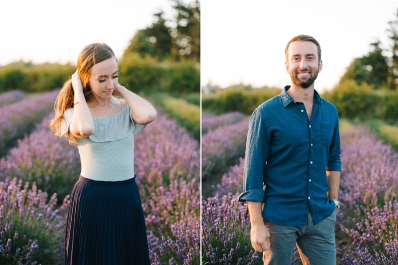 lavender wind farm Coupeville wa engagement photos