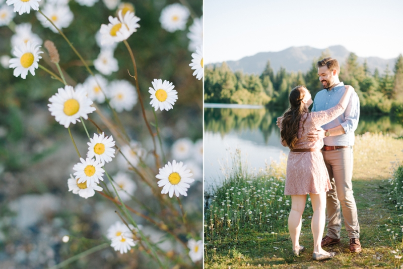 pacific northwest mountain engagement photos