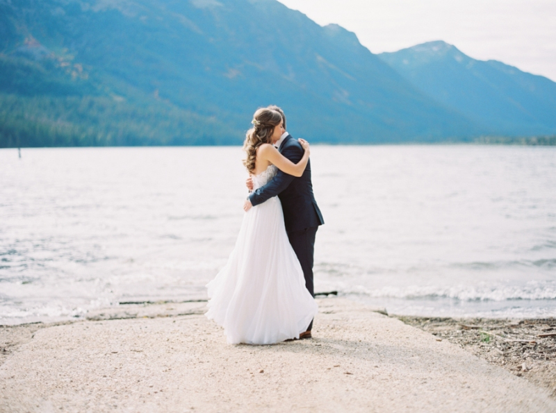lake wenatchee wedding photos film