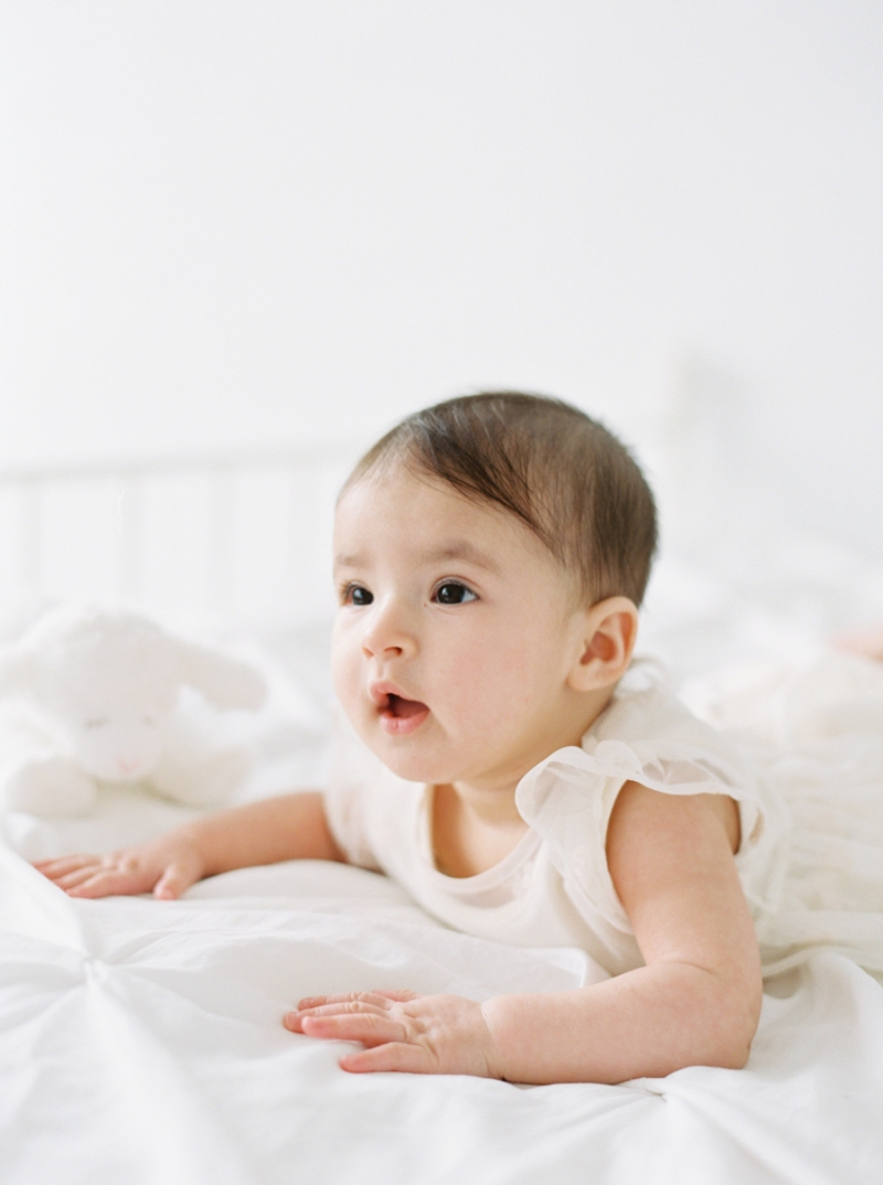 Seattle Baby Photography on film in a natural light studio
