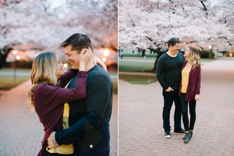 spring engagement photo film